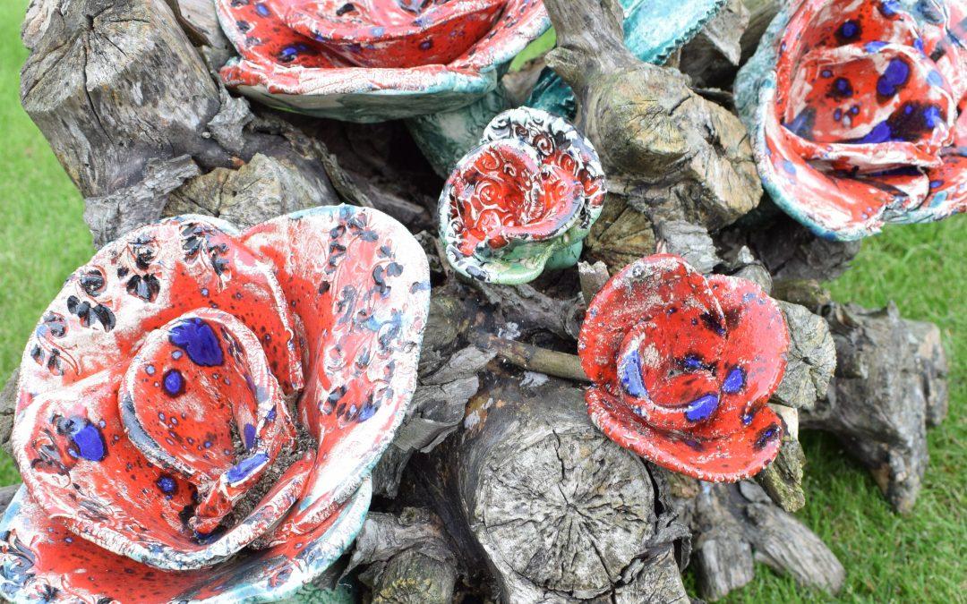 duurzame bloemen en grafstukken.